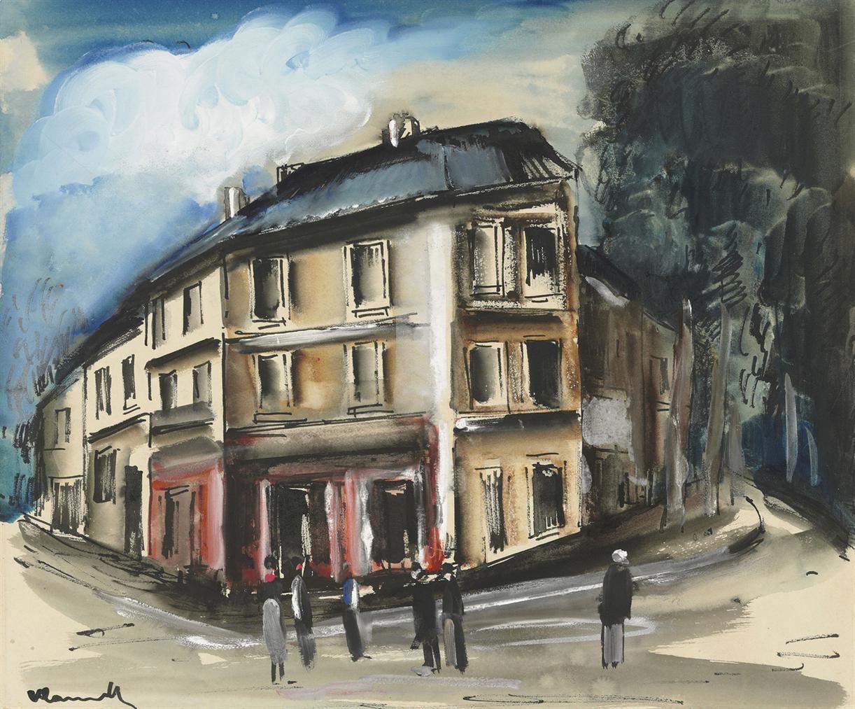 Maurice de Vlaminck-Scene De Rue-