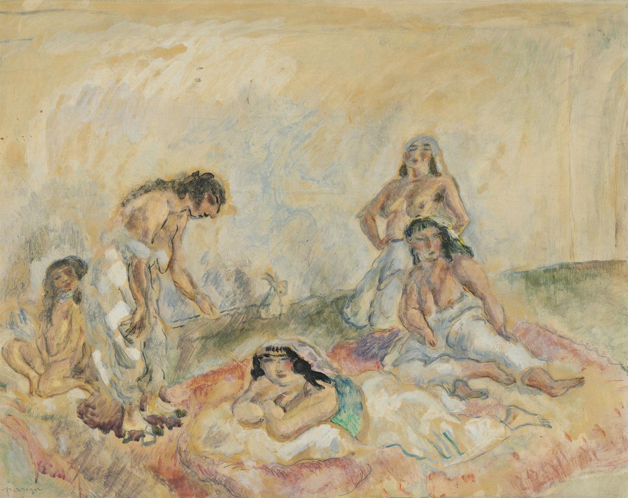 Jules Pascin-Femmes Au Salon-1908