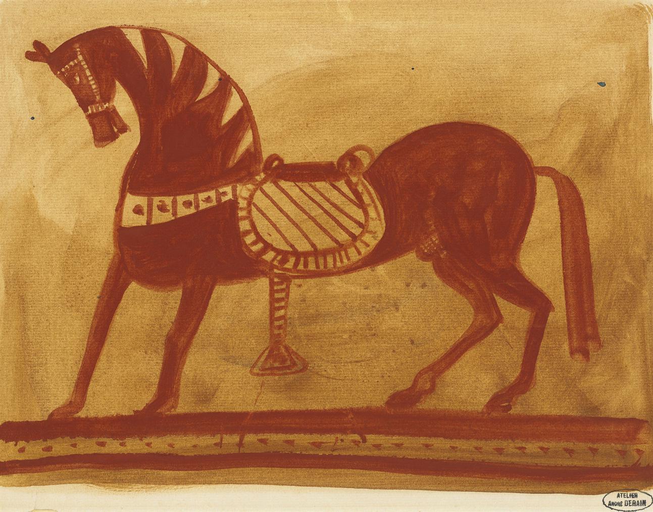 Andre Derain-Cheval Etrusque-1947
