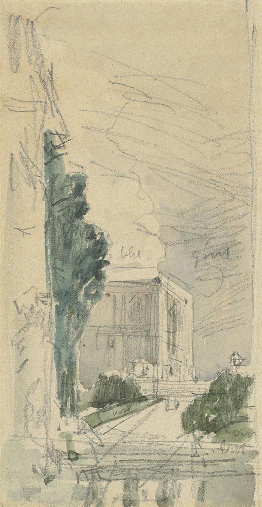 Eugene Louis Boudin-Chateau De Bourdainville-1869