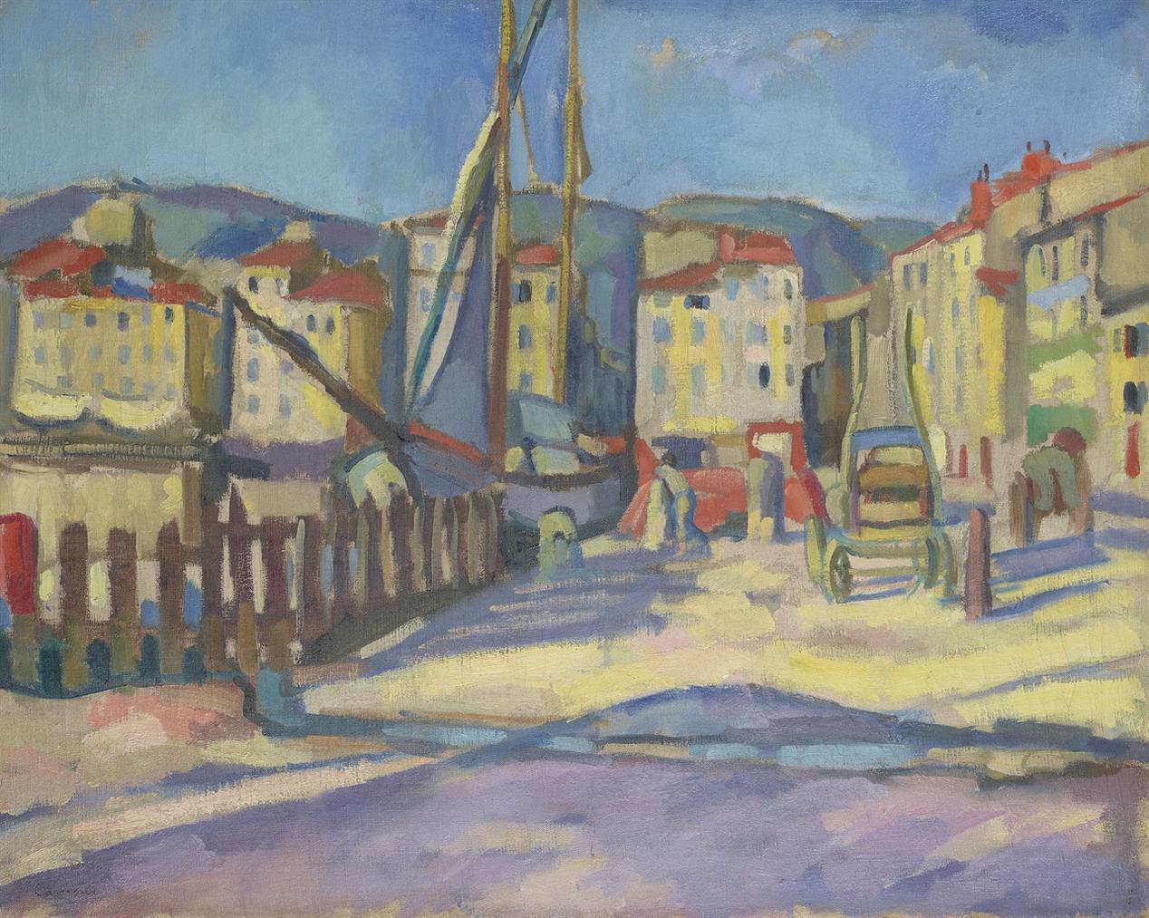 Charles Camoin-Le Port De Cassis A La Barriere-1905