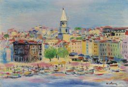 Moise Kisling-Le Port De Marseille-1938