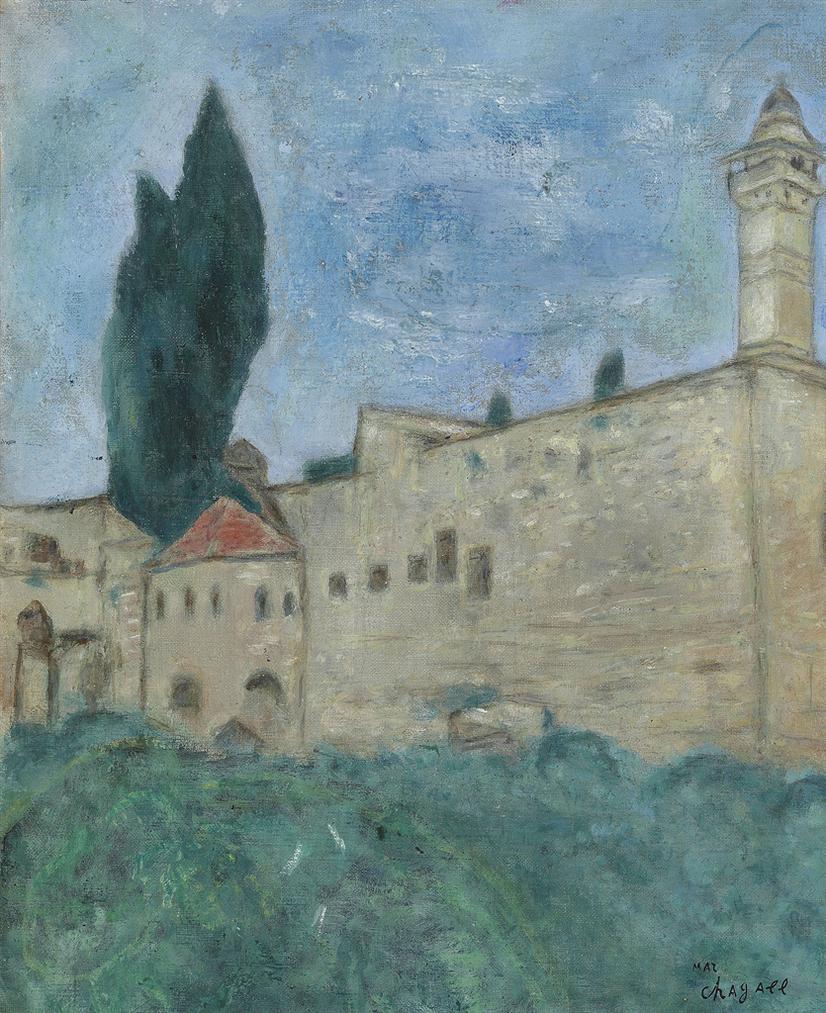 Marc Chagall-Enceinte Du Mur De Jerusalem-1931