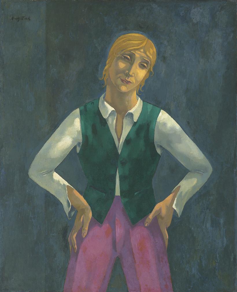 Eugene Zak - Garcon Dans Son Manteau Vert-1919