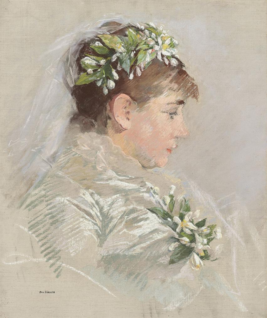 Eva Gonzales-La Mariee (Jeanne Gonzales)-1879