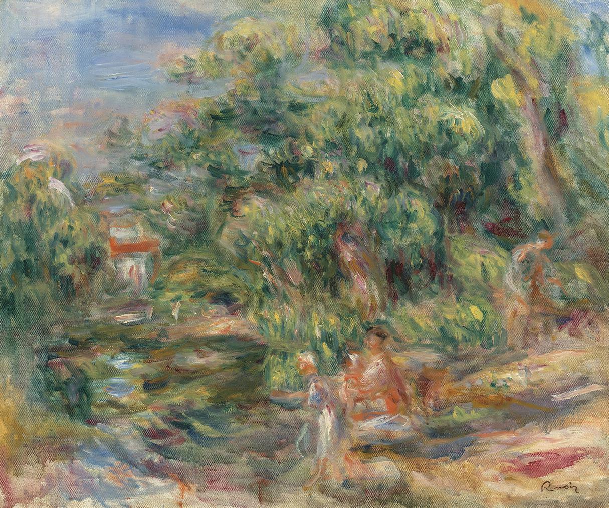 Pierre-Auguste Renoir-Lavandieres Au Bord Du Loup-1917