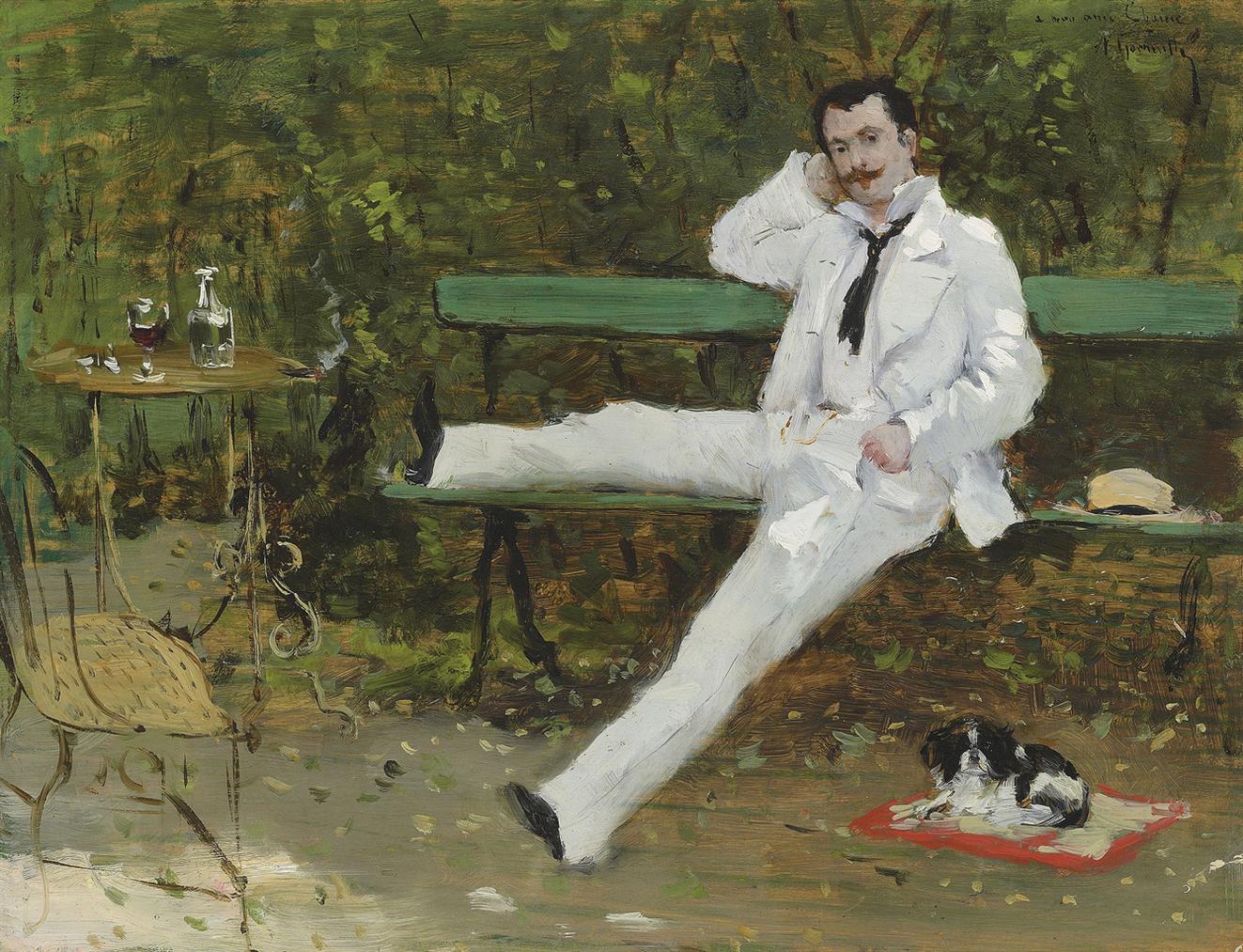 Norbert Goeneutte - Dans Le Jardin-1876
