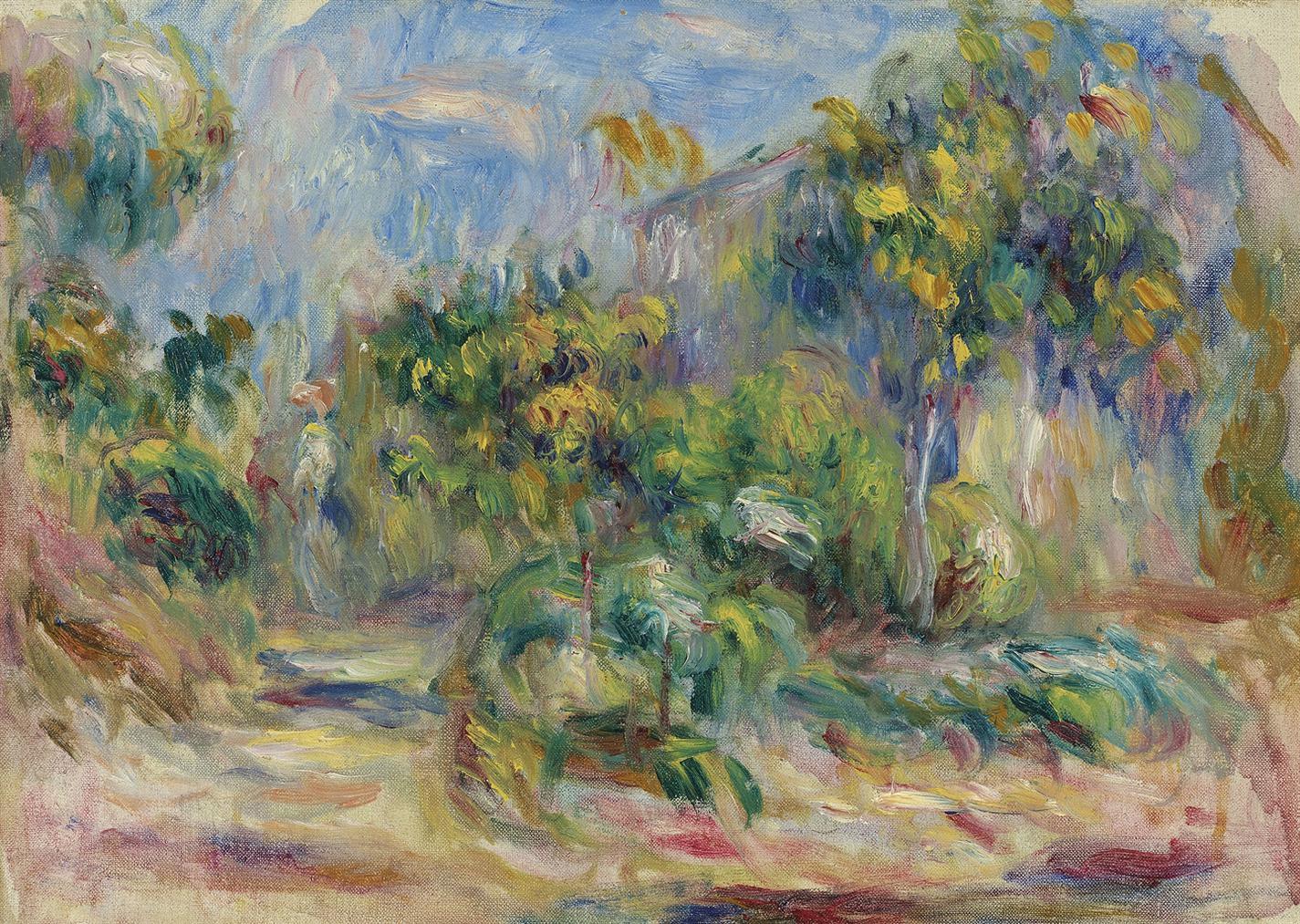 Pierre-Auguste Renoir-Paysage Arbore-1916