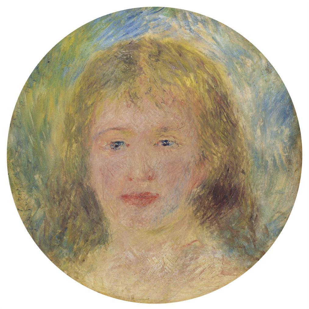 Pierre-Auguste Renoir-Tete De Femme, Jeanne Samary-1877