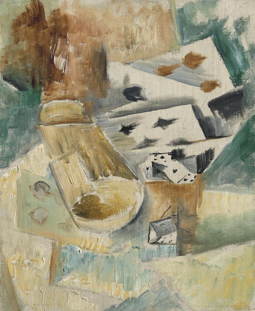 Georges Braque-Cartes Et Cornet A Des-1911