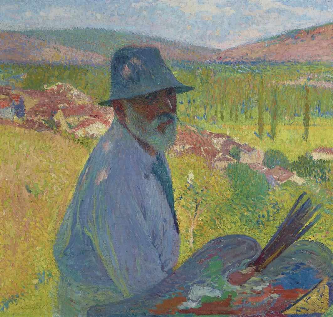 Henri Martin-Autoportrait A La Bastide-Du-Vert-1905