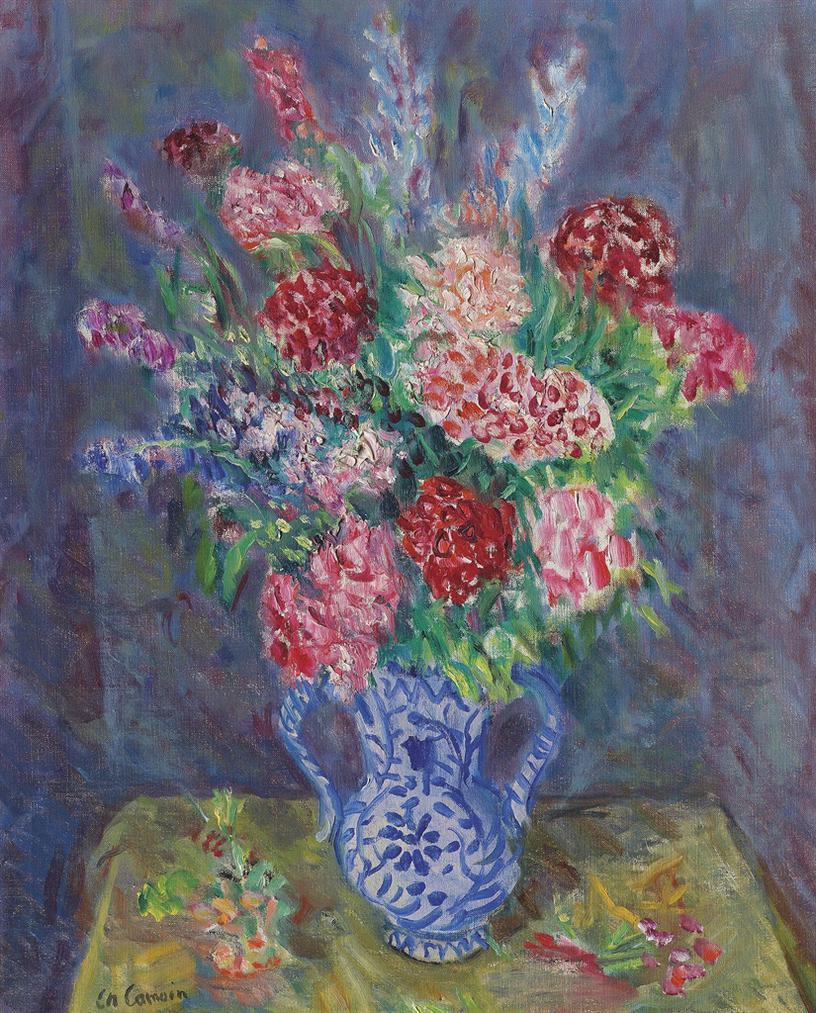 Charles Camoin-Bouquet De Fleurs-1950