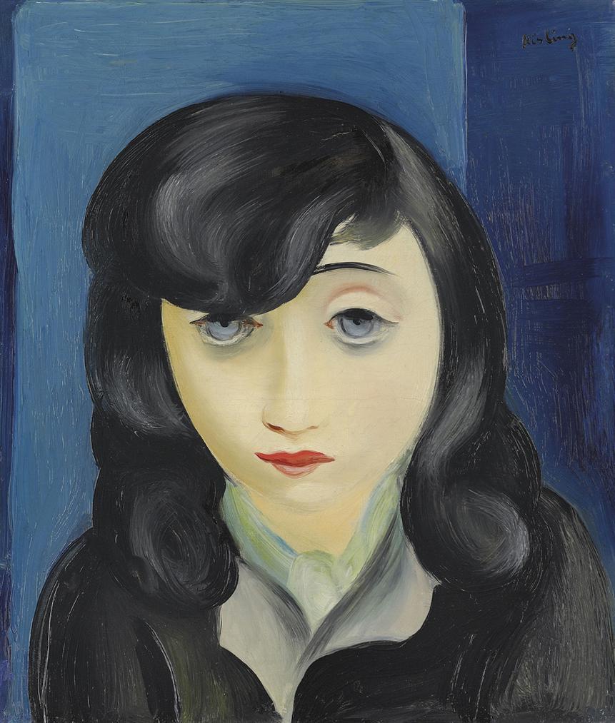 Moise Kisling-Portrait De Femme A La Frange-