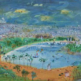 Jean Dufy-Vue De Paris-1958