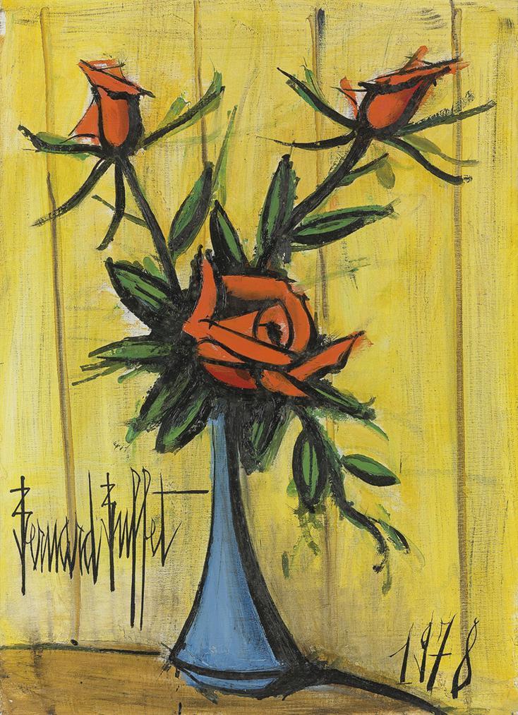 Bernard Buffet-Bouquet De Roses-1978
