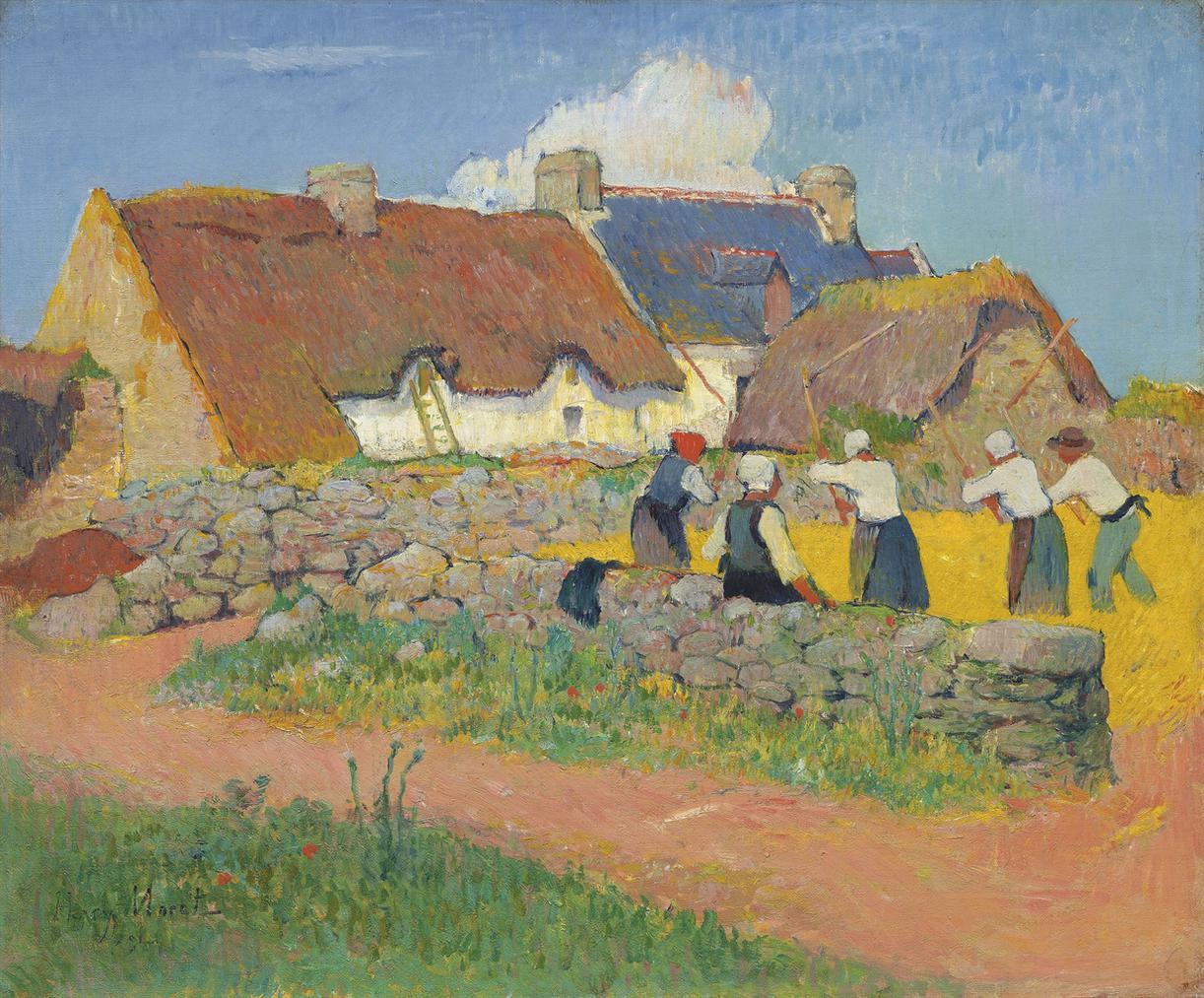 Henry Moret-Le Battage Du Ble Au Village-1894