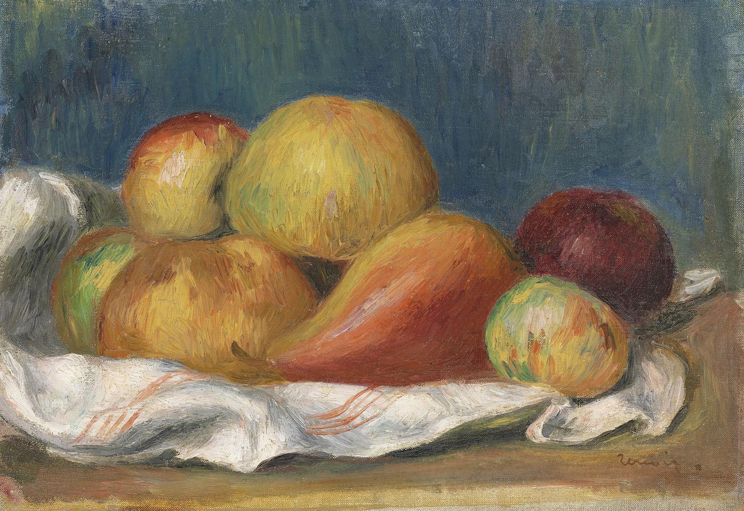 Pierre-Auguste Renoir-Nature Morte Aux Pommes Et A Poire-1889