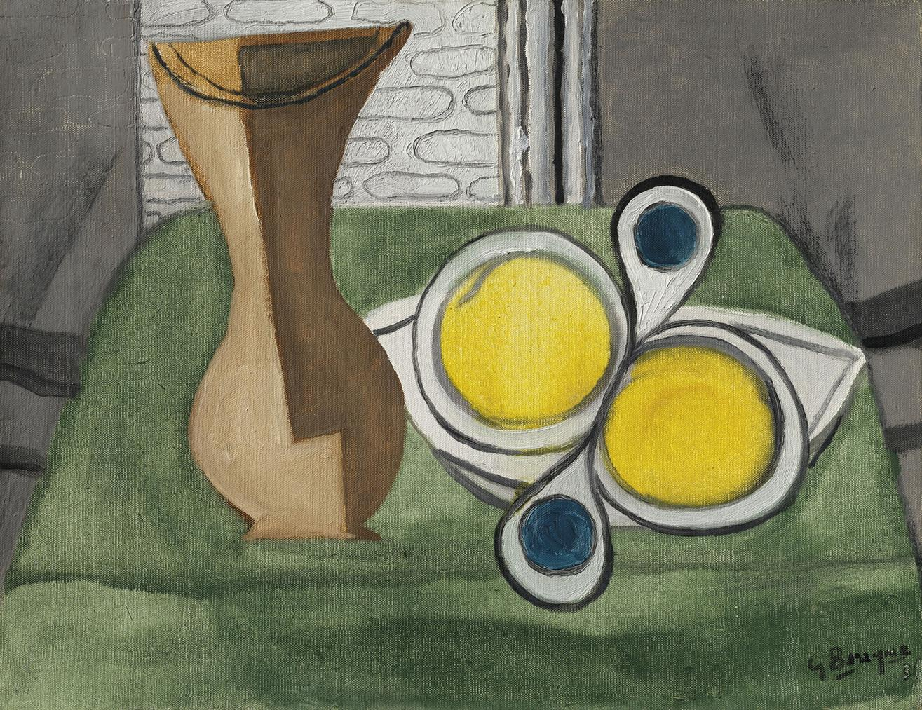 Georges Braque-Vase Et Fruits-1931