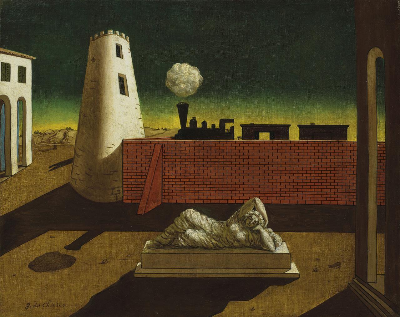 Giorgio De Chirico ( - Piazza Ditalia-
