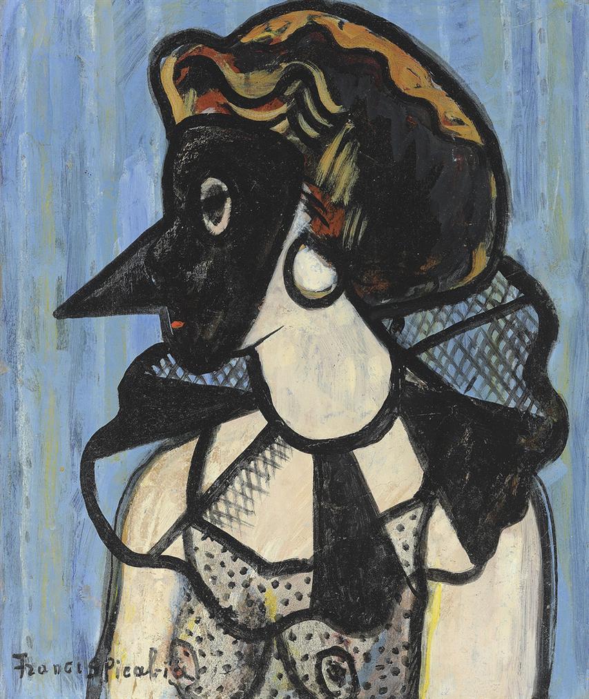 Francis Picabia-Femme Au Masque-1939