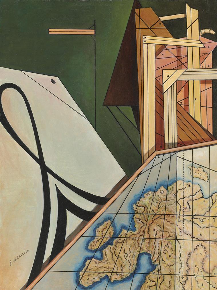 Giorgio de Chirico-Il Continente Misterioso-1968