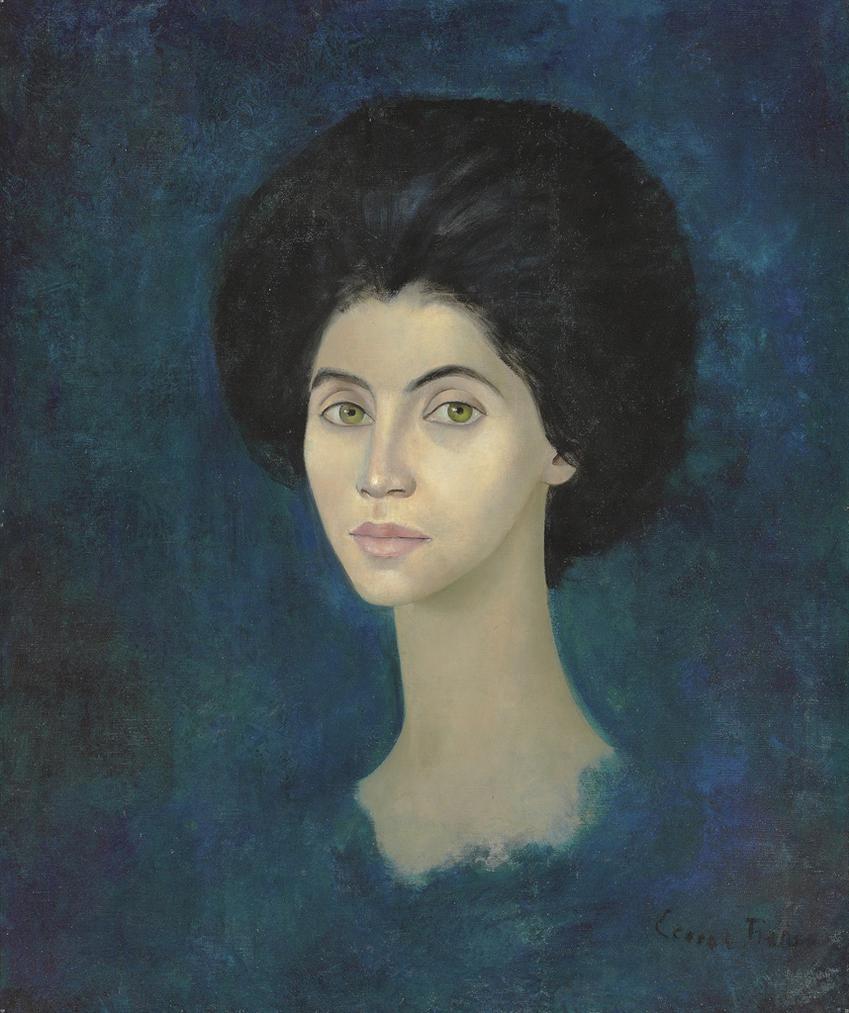 Leonor Fini-Portrait Feminin No. 25-1955