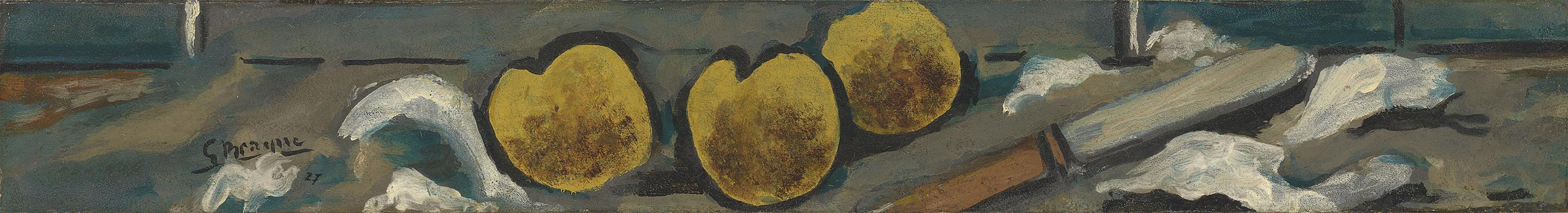 Georges Braque-Pommes Et Couteau-1927