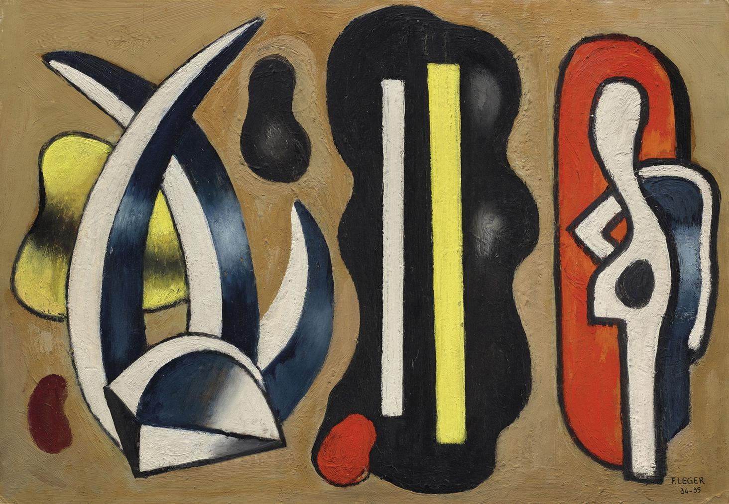 Fernand Leger-Composition A Laloes-