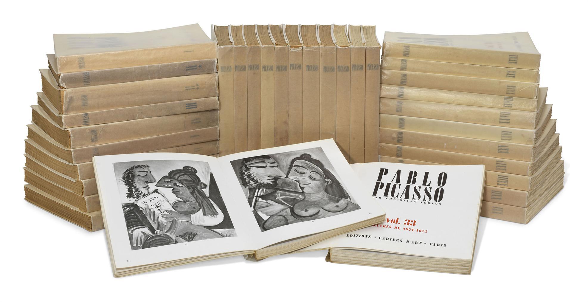 Christian Zervos - Pablo Picasso 1895-1973, Catalogue Raisonne. Paris: Editions Cahiers Dart, 1957-1978-