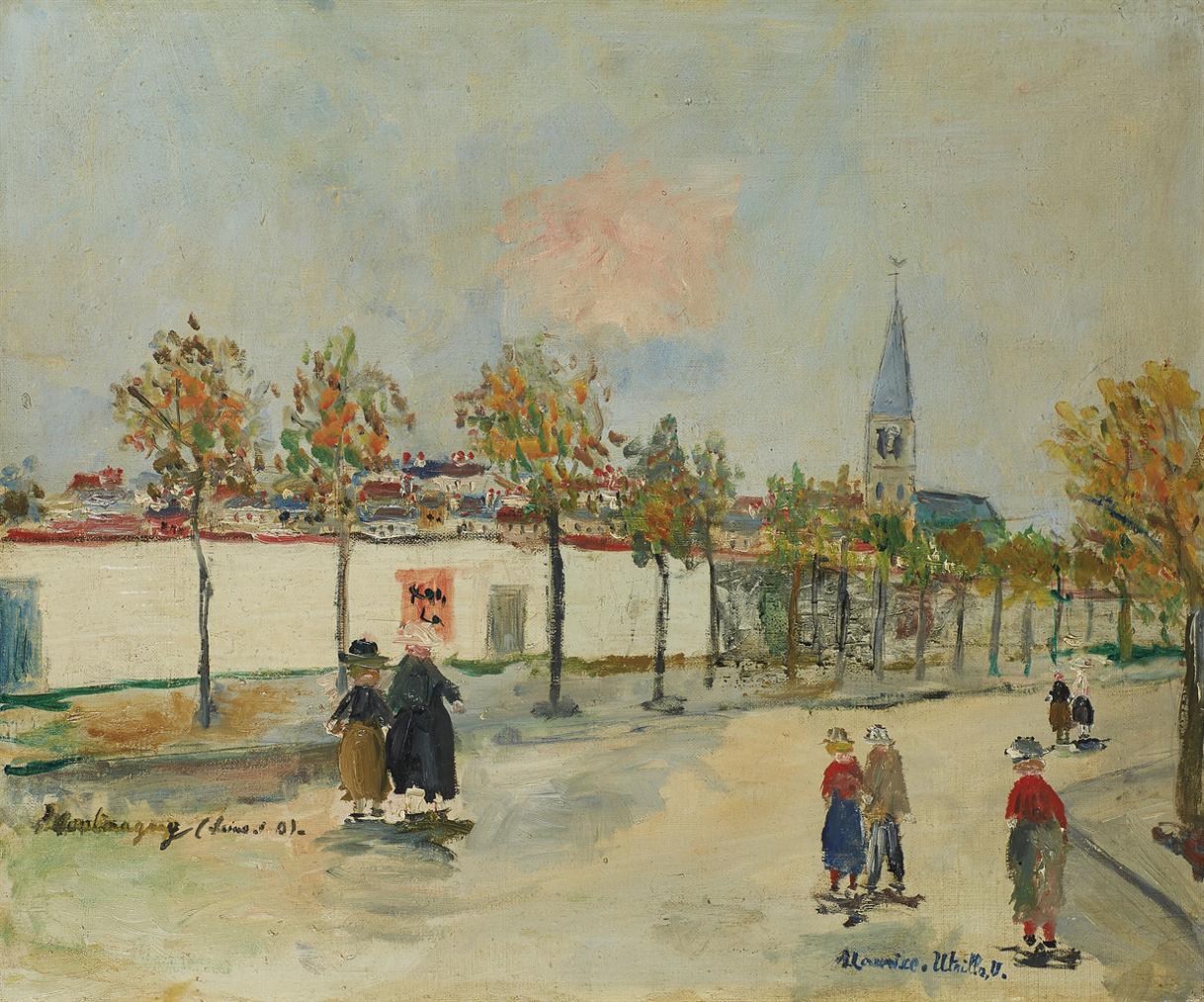 Maurice Utrillo-Eglise De Montmagny-