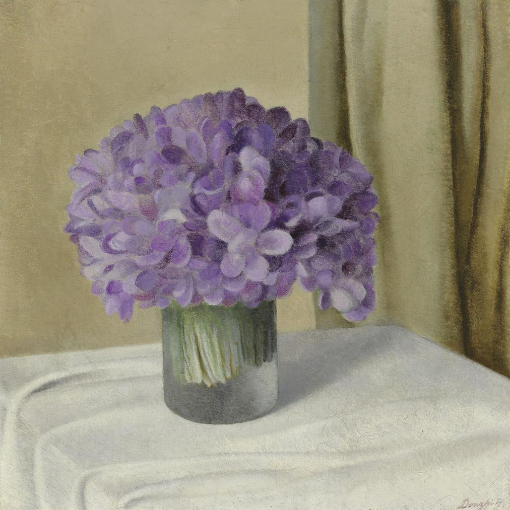 Antonio Donghi-Viole Nel Vaso-1923