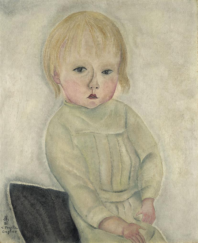Tsuguharu Foujita-Portrait De Fillette-1918