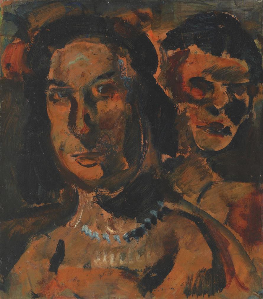 Georges Rouault-Deux Tetes De Femmes-1909