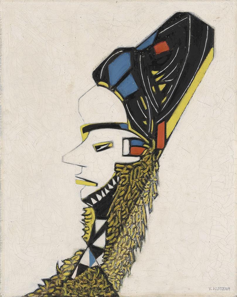 Vilmos Huszar-African Mask-