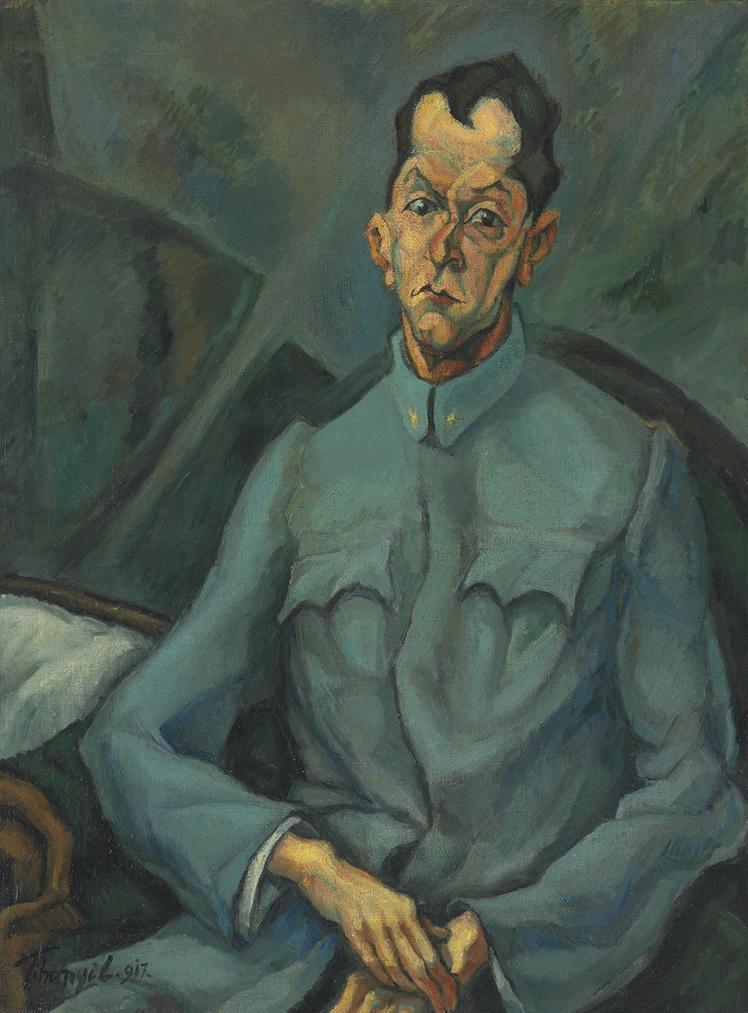 Lajos Tihanyi - Portrait Of Tersanszky Jozsi Jeno-1917