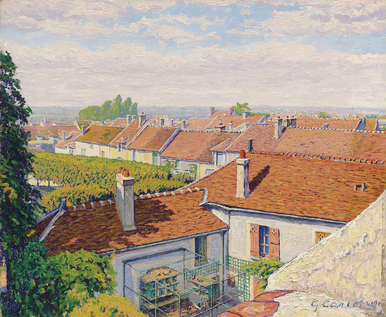 Gustave Cariot-Les Toits Rouges-1909