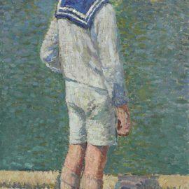 Henri Martin-Petit Garcon Au Bord Du Bassin Du Jardin Du Luxembourg A Paris