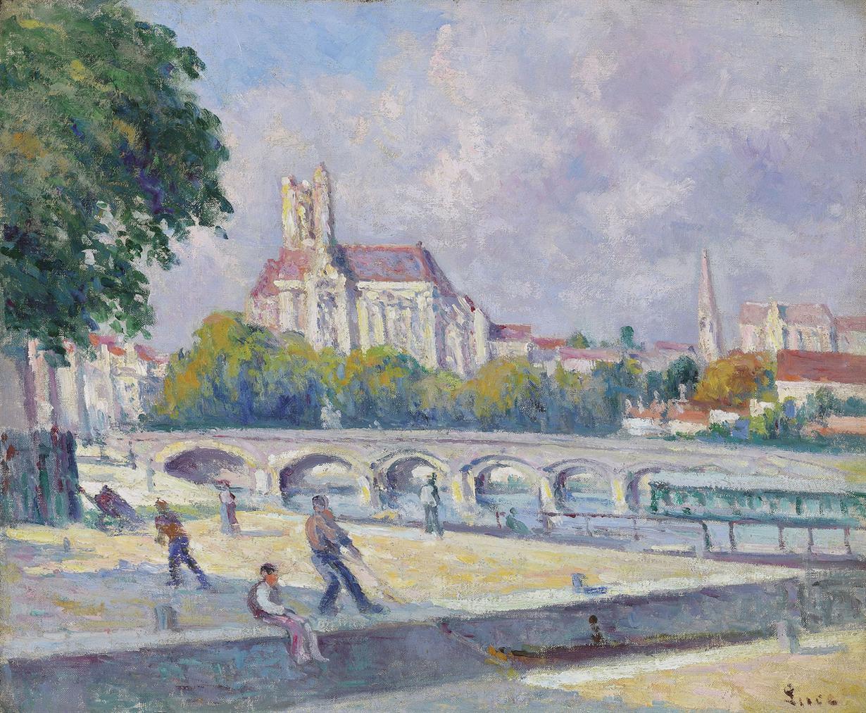 Maximilien Luce-Les Quais Et La Cathedrale, Auxerre-