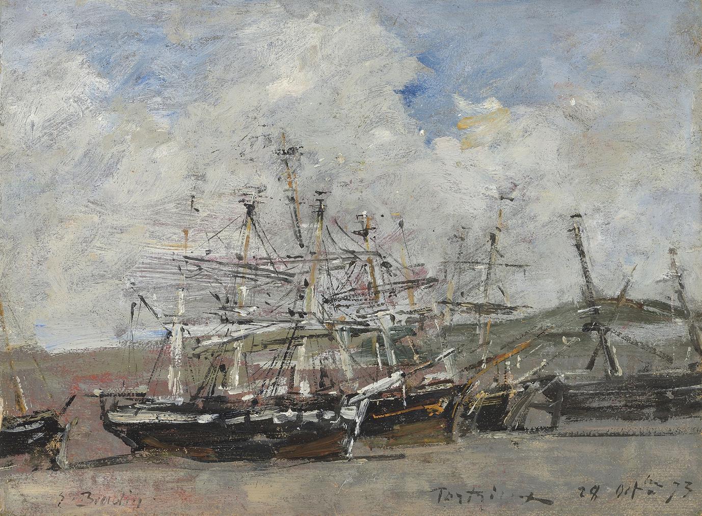 Eugene Louis Boudin-Portrieux. Le Port A Maree Basse-1973