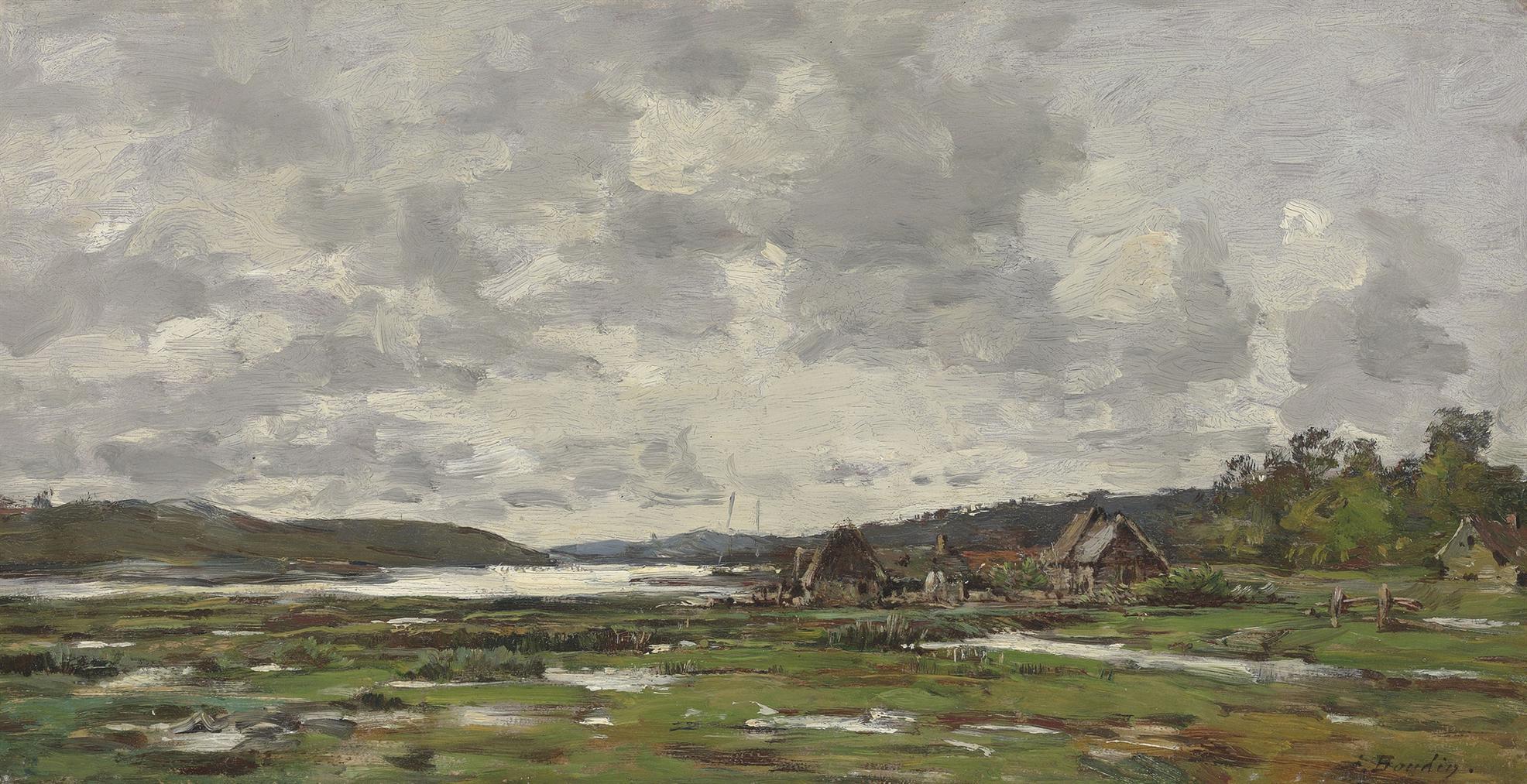 Eugene Louis Boudin-Paysage Breton-1870