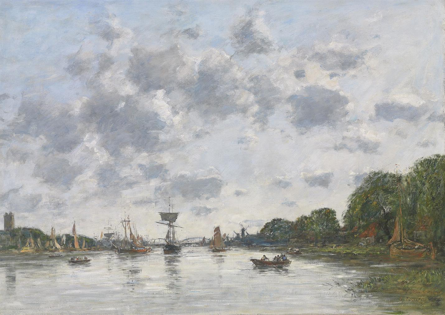 Eugene Louis Boudin-La Meuse A Dordrecht-1884