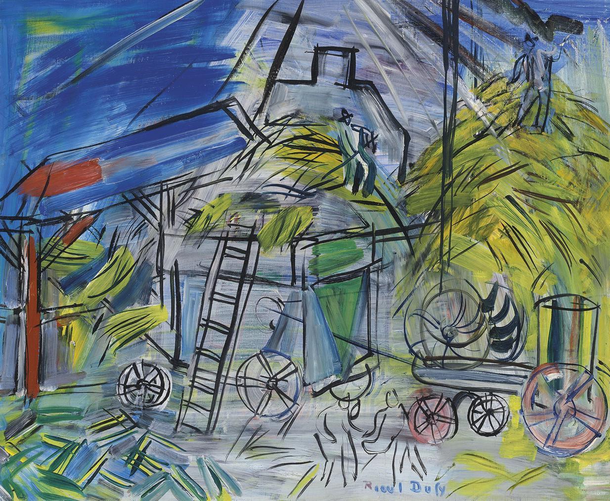 Raoul Dufy-Depiquage Au Ciel Orageux-1946