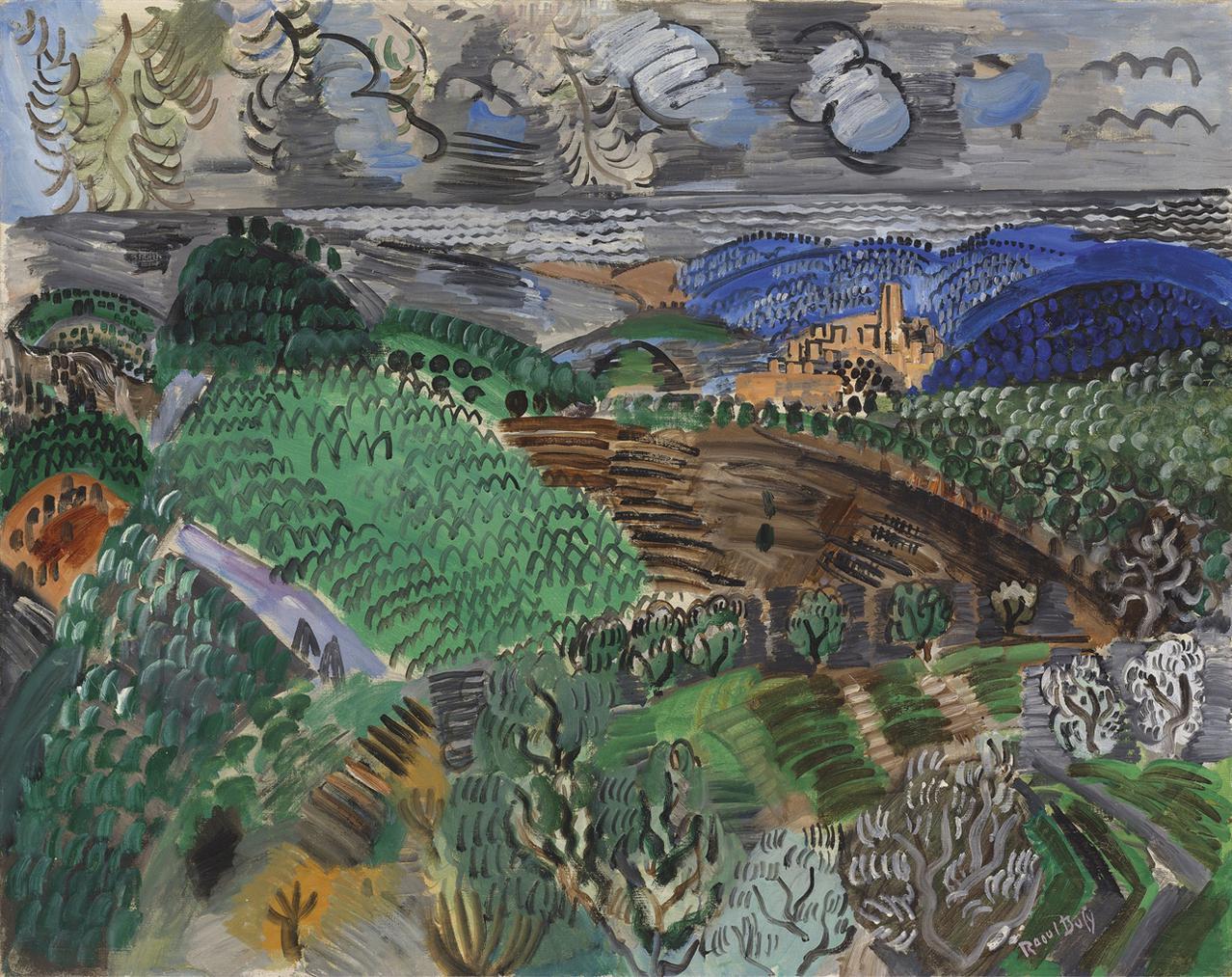 Raoul Dufy-Saint-Paul De Vence-1920