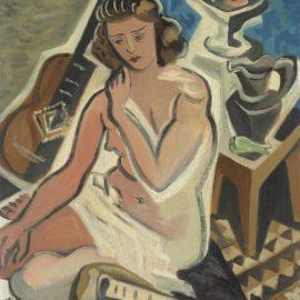 Gino Severini-Donna Con Chitarra (Nudo E Natura Morta)-1942
