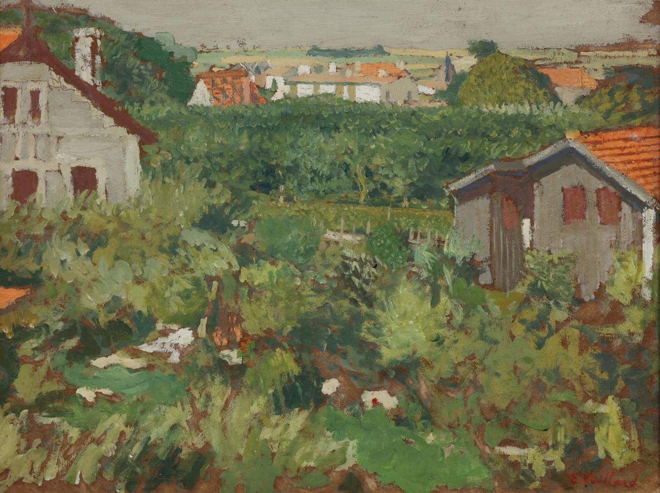 Edouard Vuillard-Maisonnettes Dans Un Enclos-1909