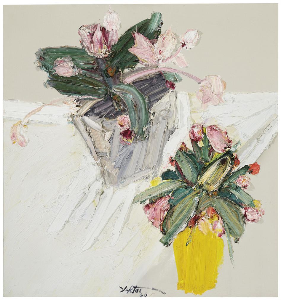 Manoucher Yektai-Two Vases-1966