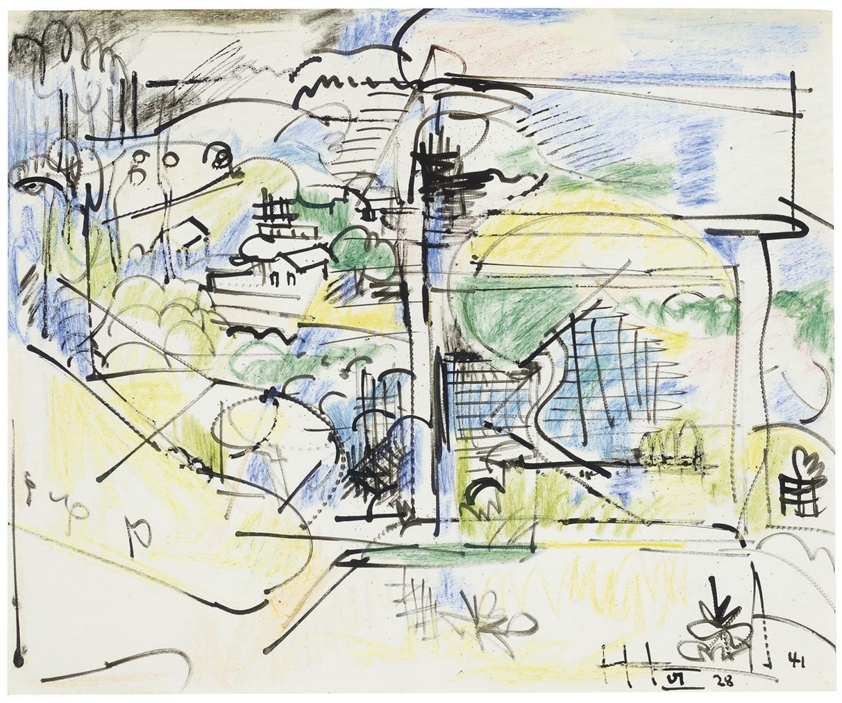 Hans Hofmann-Untitled (Provincetown)-1941