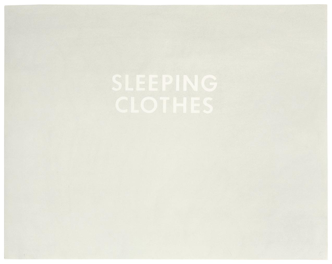 Ed Ruscha-Sleeping Clothes-1973
