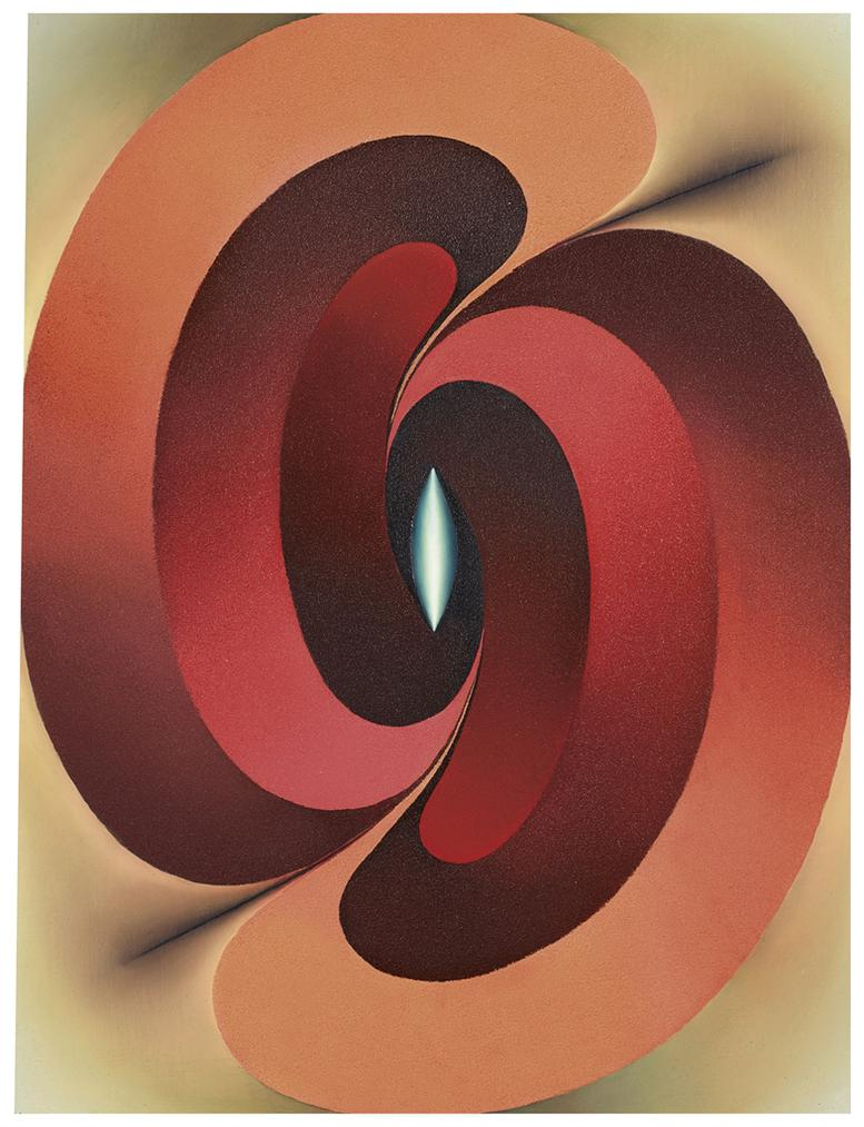 Loie Hollowell - Linked Lingams In Red And Blue-2015