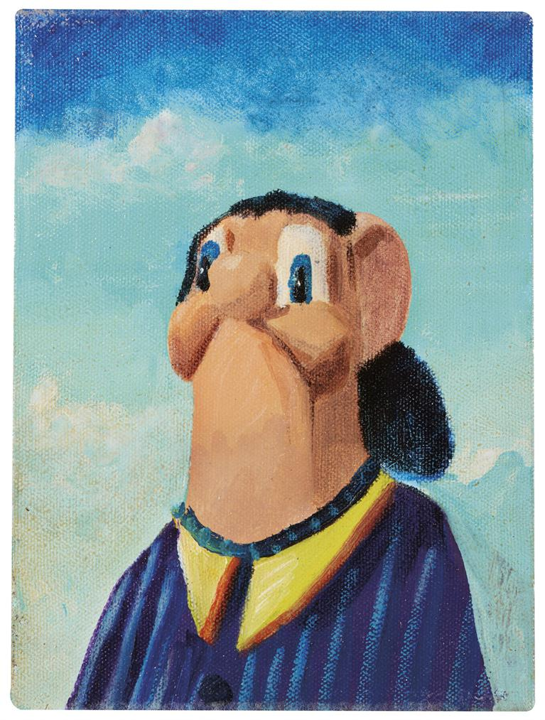 George Condo-The Gas Station Attendant-2001